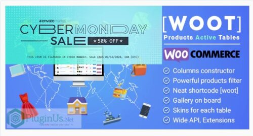 WOOT - WooCommerce Products Tables Professional