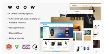 WOOW - Responsive WooCommerce Theme