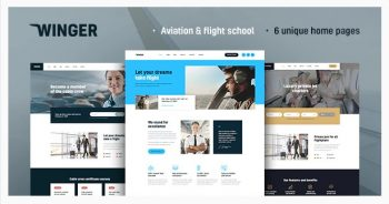 Winger - Aviation & Flight School WordPress Theme