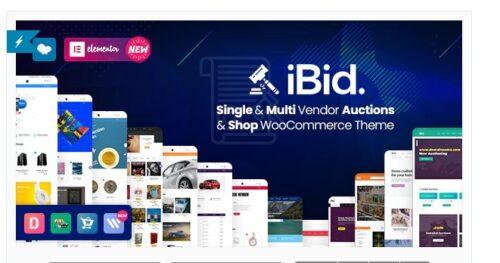 iBid v2.6 - Multi Vendor Auctions WooCommerce Theme