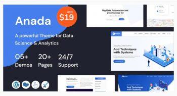 Anada - Data Science & Analytics Saas WordPress Theme