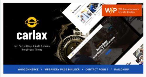 Carlax - Car Parts Store & Auto Service Theme