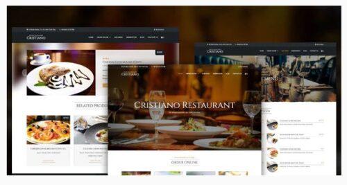 Cristiano Restaurant - Cafe & Restaurant Theme