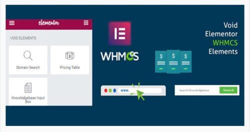 Elementor WHMCS Elements Pro For Elementor Builder