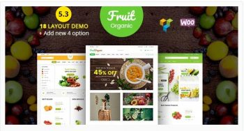 Food Fruit - Organic Farm, Natural RTL Responsive WooCommerce WordPress Theme