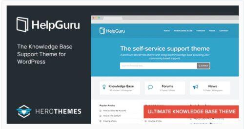 HelpGuru - A Self-Service Knowledge Base Theme