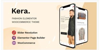 Kera - Fashion Elementor WooCommerce Theme