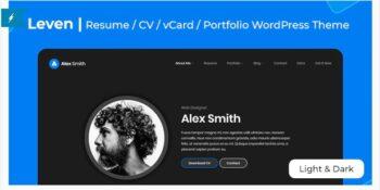 Leven - CV/Resume Theme