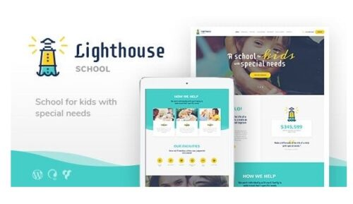 Lighthouse - School for Handicapped Kids with Special Needs WordPress Theme