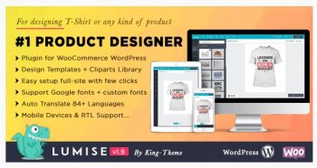 Lumise Product Designer - WooCommerce WordPress