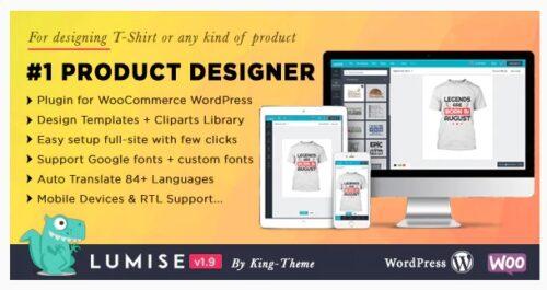 Lumise Product Designer - WooCommerce WordPress