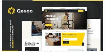 Qesco - Logistic Shipping Company WordPress Theme