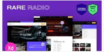 Rare Radio - Online Music Radio Station & Podcast WordPress Theme