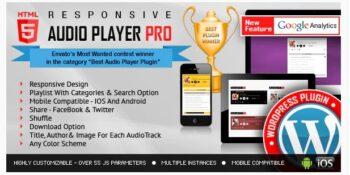 Responsive HTML5 Audio Player PRO - WordPress Plugin