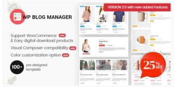 WP Blog Manager - Plugin to Manage Design Blog