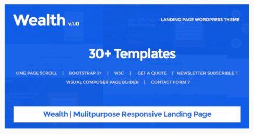 Wealth - Multi-Purpose Landing Page Theme