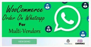 WooCommerce Order On Whatsapp for Dokan Multi Vendor Marketplaces