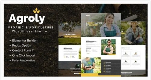 Agroly - Organic & Agriculture Food WordPress Theme