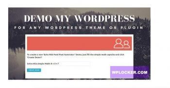 Demo My WordPress - Temporary WordPress Install Creator