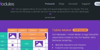 Divi Table Maker Modules