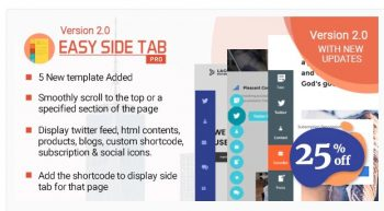 Easy Side Tab Pro - Responsive Floating Tab Plugin For Wordpress