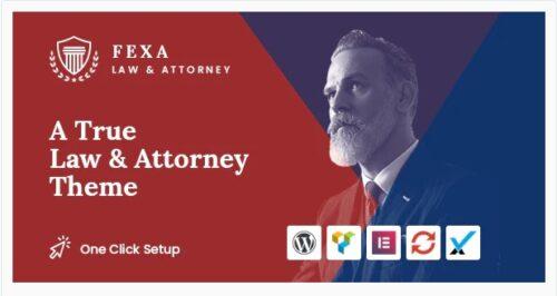 Fexa - Lawyer & Attorney WordPress Theme