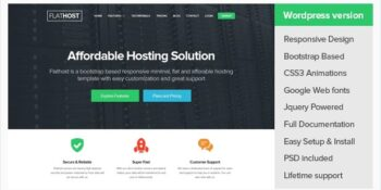 FlatHost - WordPress Hosting Theme + WHMCS