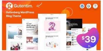 Gutentim- Modern Gutenberg WordPress Blog Theme