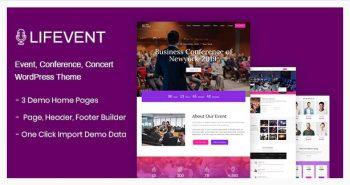 Lifevent - Conference WordPress Theme
