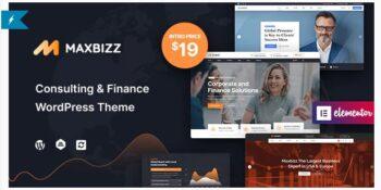 Maxbizz - Consulting & Financial Elementor WordPress Theme