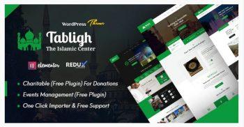 Tabligh - Islamic Institute & Mosque WordPress Theme