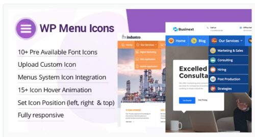 WP Menu Icons - Effectively Add & Customize Icons For WordPress Menus