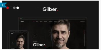 Gilber - Personal CV/Resume WordPress Theme