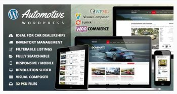 Automotive - Car Dealership Business WordPress Theme