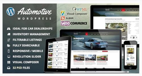 Automotive - Car Dealership Business WordPress Theme