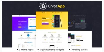 CryptApp Landing Page - Cryptocurrency Theme