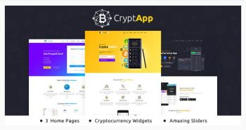 CryptApp Landing Page - Cryptocurrency Theme