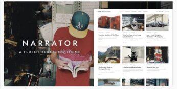 Narrator - A Fluent WordPress Blogging Theme