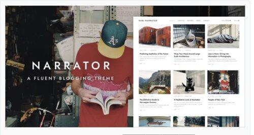 Narrator - A Fluent WordPress Blogging Theme