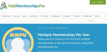 Paid Memberships Pro – Multiple Memberships per User