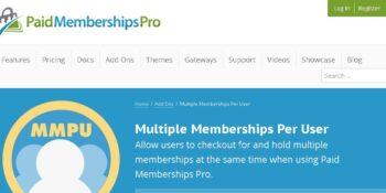 Paid Memberships Pro – Multiple Memberships per User