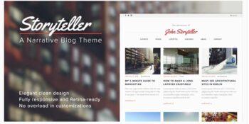 Storyteller - A Narrative WordPress Blog Theme