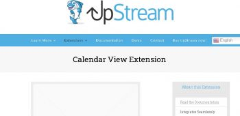 UpStream Calendar View Extension