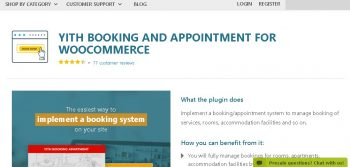 YITH WooCommerce Booking and Appointment