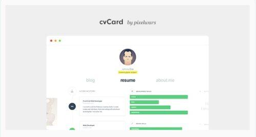 cvCard WP - Responsive vCard WordPress Theme