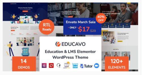 Educavo Online Courses & Education WordPress Theme