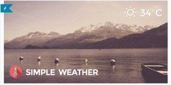 Simple Weather Weather WordPress Shortcode & Widget