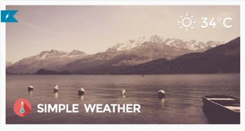 Simple Weather Weather WordPress Shortcode & Widget