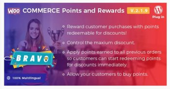 Bravo WooCommerce Points and Rewards