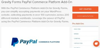 Gravity Forms PayPal Commerce Platform